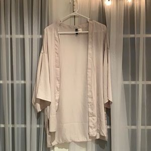 Super cute pale pink/white cover up